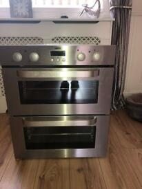 Zanussi under cover double oven ( integrated )