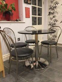 04bea5b0d1d Dining Table Glass Top Oak X Cross Legs Dining Room Furniture Modern ...