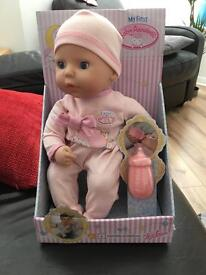 My first baby Annabelle doll
