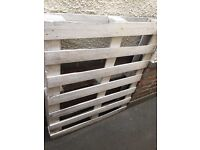 2 x white wooden painted / upcycled pallets