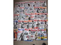 MEN'S HEALTH MAGAZINES X 29 JOB LOT EXERCISE/SPORT/DIET/STYLE 1990's-2005- COLLECT ONLY BENFLEET