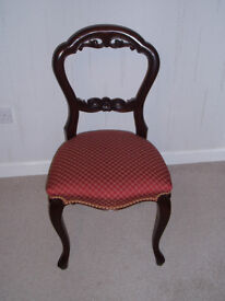 Set of 6 Solid Mahogany Dining Chairs