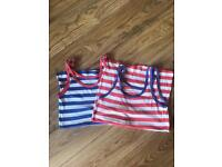 2 striped vest tops both size 10