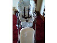 Baby high chair - blue