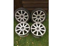 """Rs4 reps ( multi stud) alloy wheels, 18"""" et 35 x8"""