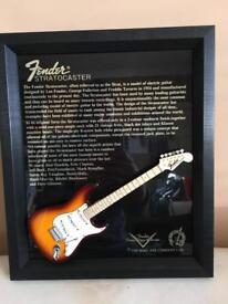 Fender Stratocaster Miniature Plaque