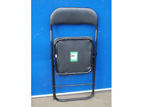 Black foldable chairs x 6 in stock (Delivery possible)