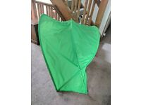IKEA SUFFLETT CHILDREN'S BED CANOPY- FOR KIDS SINGLE BED- GREEN