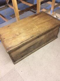 Old pine trunk/box