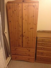 Nice wooden wardrobe in a good condition.