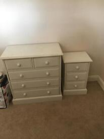 Chest of Drawers & side table/drawers