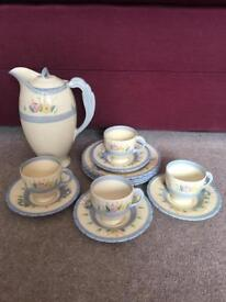 Antique coffee set 1930's. Immaculate condition. Hand painted