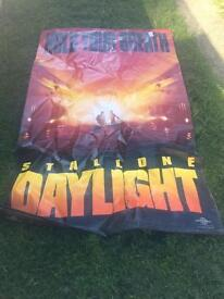 Advertisement poster daylight