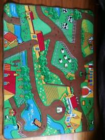 Children's farm yard play mat or rug. Excellent condition.