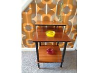 Vintage Mid Century Teak 3-Tier Side Table