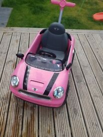 Mini Cooper Push Car Pink