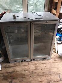 Double door beer/wine fridge