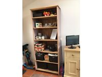 Pine bookcase, originally purchased from Gilbert's of sheffield