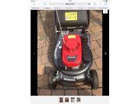 Honda hrh lawnmower or hayter 56 pro wanted