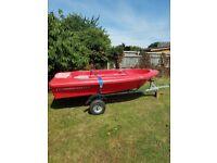 Boat pioner 325/11 sport on indespension trailer