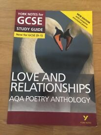 York Notes for GCSE love and relationships AQA poetry anthology study guide