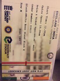 England v India Cricket ODI @ Headingley Leeds 17 July tickets £110