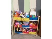 Toy storage unit (toys not included)
