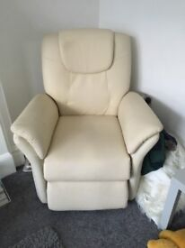 Leather electic recliner armchair