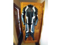 RST motorbike leather race suit, one piece, as new only used 5 times, perfect xmas gift. Motorcycle