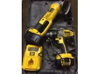 Dewalt lithium grinder 18v + combo drill