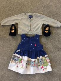 Joules festive outfit 0-3 months