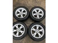 """Genuine Audi 17"""" alloys good tyres"""
