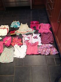 Large bundle of girls clothes age 1-2 years