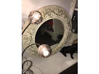 Ivory Vintage Style Mirror