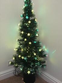 Fibre optic Christmas trees 4ft star light detail