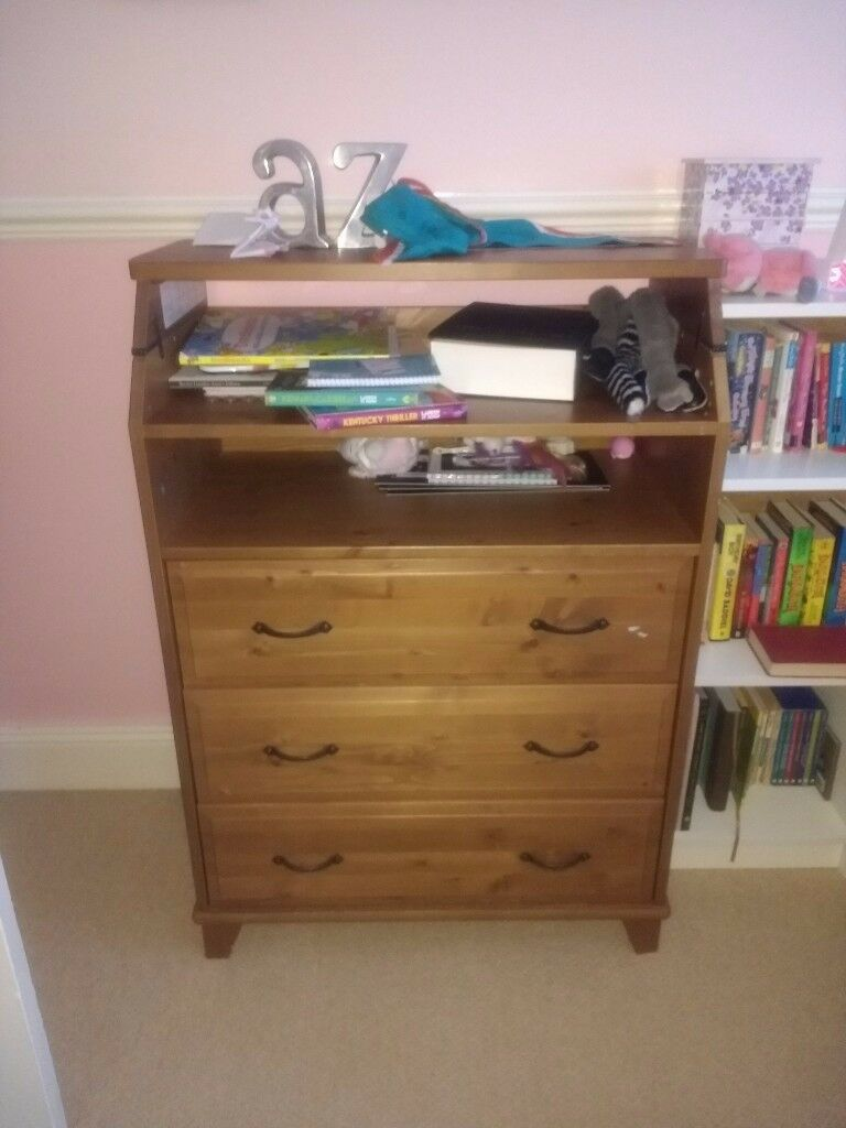Ikea Leksvik Changing Table Chest Of Drawers In Gloucester  # Meuble Tv Angle Ikea Leksvik