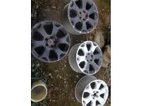 "Astra vxr 18"" snowflake alloys for refinish"