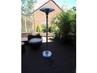 Freestanding 2.1Kw Electric Halogen Infrared Patio Heater with Table