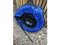 Winter wheels for vw Passat including tyre covers. Nearly new condition,.