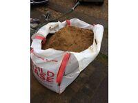 Dumpy bag of sharp sand