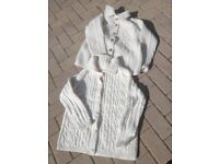 2 hand-knitted Aran cardigans