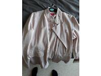 Pink demin jacket size 14