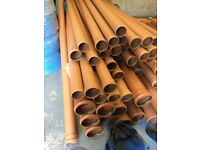 110mm 4inch Underground Drainage Pipes, Fittings and Inspection Chambers - Brown, Black and Grey