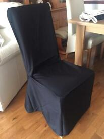 50 new black cotton chair covers