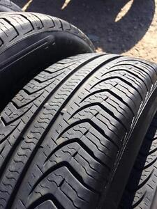 4 pneus d ete  195/65r15 pirelli p4 a l etat neufs