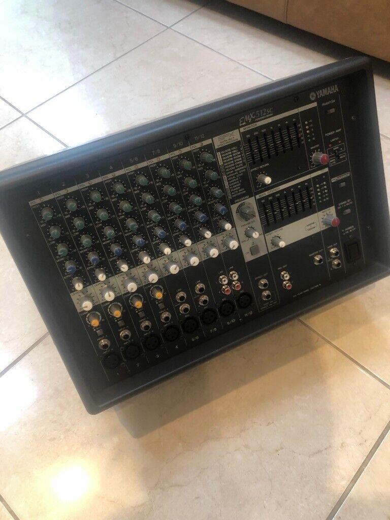 Yamaha EMX512SC powered mixer Amp / Amplifier Very Good Condition with  manual | in Malone, Belfast | Gumtree
