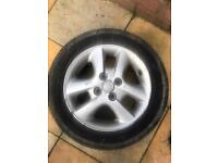 TOYOTA COROLLA 6 SPOKES SPARE ALLOY WHEEL RIM AND TYRE