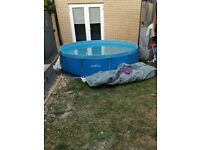 10FT framed swimming pool