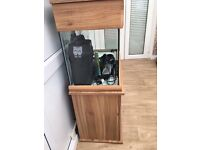 Fish tank and cabinet with all accessories