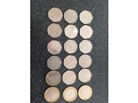 Collection of rare 50 pences and £2 coins